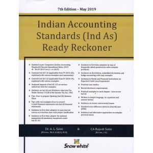 Snow White's Indian Accounting Standards (IND-AS) Ready Reckoner 2019 [HB] by Dr. A. L. Saini, CA. Rajesh Saini