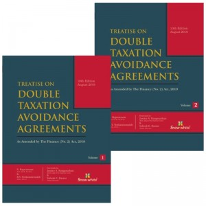 Snow White Publication's Treatise on Double Taxation Avoidance Agreements (DTAA) by S. Rajarathnam & B. V. Venkataramaiah (2 HB Volumes)
