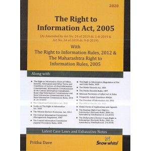 Snow White Publication's Right to Information (RTI) Act, 2005 By Pritha Dave