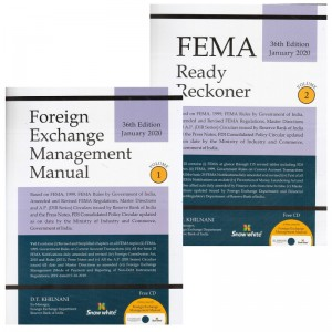 Snow White's Foreign Exchange Management [FEMA] Manual & Ready Reckoner 2020 by D. T. Khilnani (2 Vols. with Free CD)