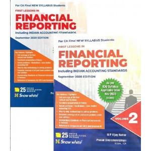 Snow White's First Lessons in Financial Reporting including Indian Accounting Standards for CA Final May 2021 Exam [New Syllabus] by M. P. Vijay Kumar [2 Volumes]