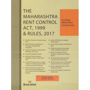 Snow White Publication's The Maharashtra Rent Control Act, 1999 & Rules, 2017 by Adv. Sunil Dighe