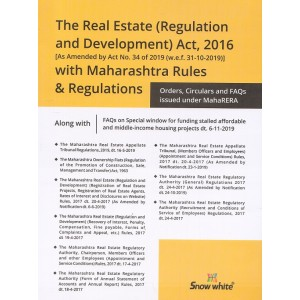 Snow White's Real Estate (Regulation and Development) Act, 2016 With Maharashtra Rules & Regulation [RERA]