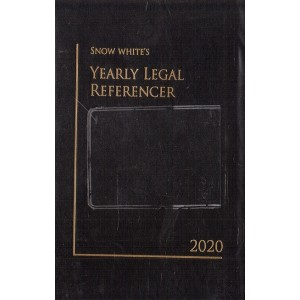 Snow White's Yearly Legal Referencer Cum Advocate's Diary 2020 (Standard Size)