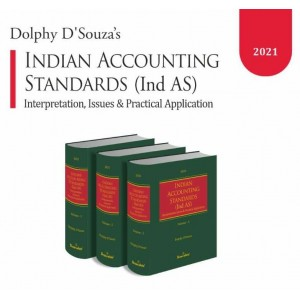 Snow White Publication's Indian Accounting Standards (Ind-AS) with CD by Dolphy D'Souza [3 Vols. Edn. 2021]