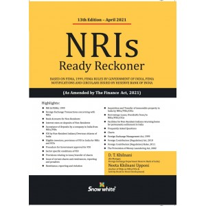 Snow White's NRIs Ready Reckoner 2021 by D. T. Khilnani