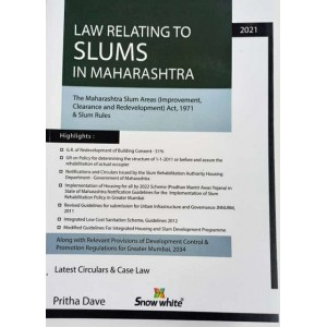 Snow White Publication's Law Relating to Slums in Maharashtra by Pritha Dave