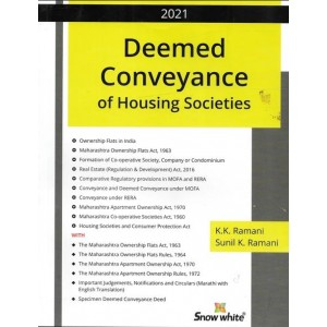 Snow White Publication's Deemed Conveyance of Housing Societies by K.K. Ramani & Sunil K. Ramani
