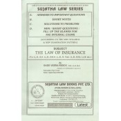Sujatha Law Series Law of Insurance for BSL & LL.B by Gade Veera Reddy