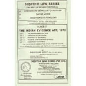 Sujatha's Indian Evidence Act, 1872 For B.S.L & L.L.B by Gade Veera Reddy | Sujatha Law Series