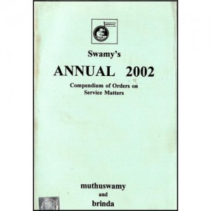 Swamy's Annual 2002 - Orders on Service Matters (C-102)