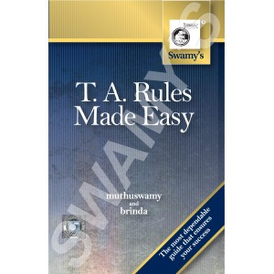 Swamy Publisher's T.A. Rules Made Easy (G-1)