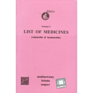 Swamy Publisher's List of Medicines (Admissible and Inadmissible) (C-7-A)