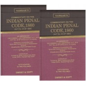 Sarkar's Indian Penal Code, 1860 [IPC] - Central & State Amendments by Sweet & Soft Publication [2 HB Vols.]