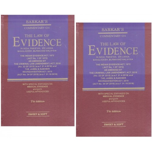 S. C. Sarkar's Commentary on The Law of Evidence [2 HB Volumes] by Sweet & Soft Publication
