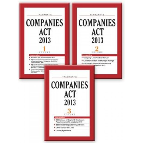 Taxmann's Companies Act, 2013 with Rules (Set of 3 Volumes)