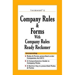 Taxmann's Company Rules & Forms with Company Rules Ready Reckoner - Paperback
