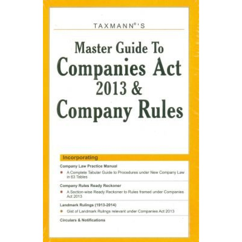 taxmann s master guide to companies act 2013 along with quick rh law all com Companies Act 2017 Singapore Companies Act
