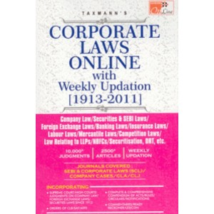 Taxmann's Corporate Laws Online [1913-2012] CD