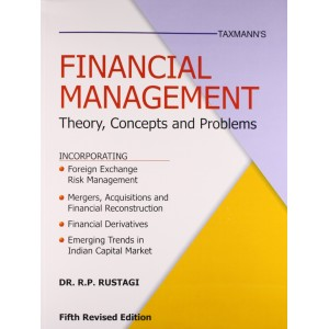 Taxmann's Financial Management  Theory, Concepts and Problems by Dr. R. P. Rustogi