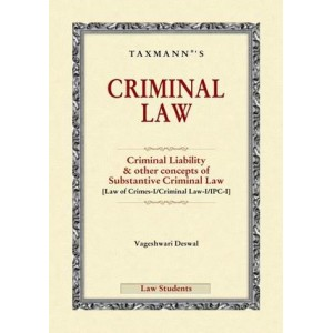 Taxmann's Criminal Law [IPC] For BSL & LL.B by Vageshwari Deswal