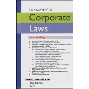 Taxmann's Corporate Laws Bare Act (HB-Pocket)