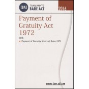 Taxmann's Bare Act on Payment of Gratuity Act 1972