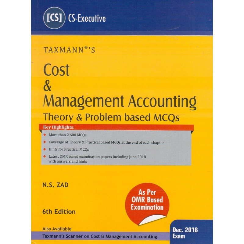 Taxmann's Cost & Management Accounting (Theory & Problem