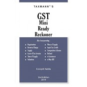 Taxmann's GST Mini Ready Reckoner 2019 by CA. Arpit Haldia