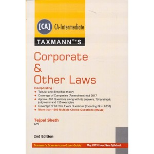 Taxmann's Corporate & Other Laws for CA Inter (IPCC) for May 2019 Exam by Tejpal Sheth [New Syllabus]