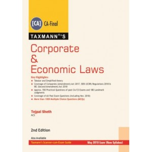 Taxmann's Corporate & Economic Laws for CA Final May 2019 Exam [New Syllabus] by Tejpal Sheth