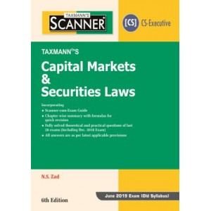 Taxmann's Cracker on Capital Markets & Securities Laws for CS Executive June 2019 Exam [Old Syllabus] by N. S. Zad
