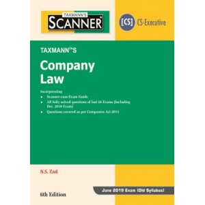 Taxmann's Cracker on Company Law for CS Executive June 2019 Exam [Old Syllabus] by N. S. Zad