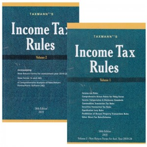 Taxmann's Income Tax Rules 2019-20 [2 Volumes]