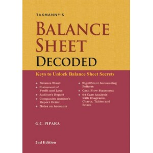 Taxmann's Balance Sheet Decoded [HB] by G. C. Pipara