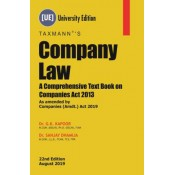 Taxmann's Company Law: A Comprehensive Textbook on Companies Act 2013 by Dr. G. K. Kapoor & Dr. Sanjay Dhamija