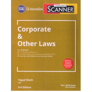 Taxmann's Cracker on Corporate & Other Laws for CA Inter November 2019 Exam [New Syllabus] by Tejpal Sheth