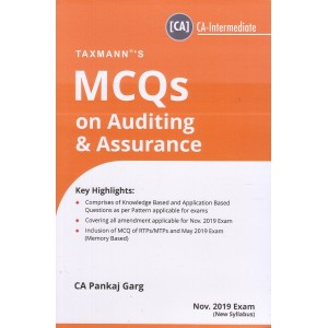 Taxmann's MCQs on Auditing & Assurance for CA Inter November 2019 Exam [New Syllabus] by CA. Pankaj Garg