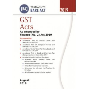 Taxmann's GST Acts [Pocket] Bare Act 2019