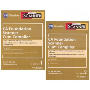 Taxmann's CA Foundation Cracker Paper 1, 2, 3, 4 Combo for November 2019 Exam [New Syllabus] by Dr. S. K. Agrawal & CA. Manmeet Kaur [Accounting, Business Laws, Business Mathematics, Business Economics]