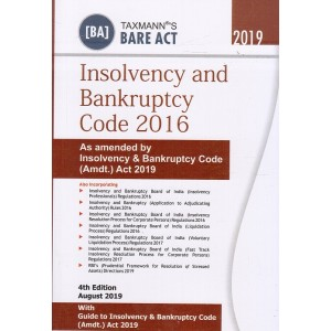 Taxmann's Bare Act on Insolvency & Bankruptcy Code 2016 Pocket