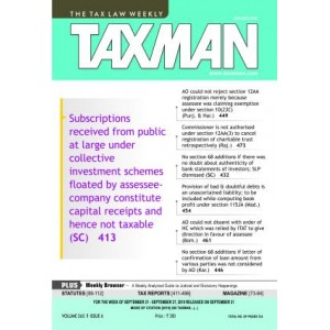 Taxmann's Weekly Magazine on Taxation (Annual Subscription) | Tax Law Weekly 2020