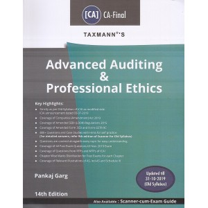 Taxmann's Advanced Auditing & Professional Ethics for CA Final May 2020 Exam [Old Syllabus] by CA. Pankaj Garg
