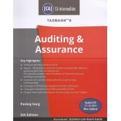 Taxmann's Auditing & Assurance for CA Intermediate May 2020 Exam [New Syllabus] by CA. Pankaj Garg