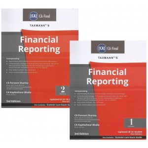 Parveen Sharma's Financial Reporting for CA Final May 2020 Exam [New Syllabus] by CA. Kapileshwar Bhalla [2 Vols] | Taxmann Publication