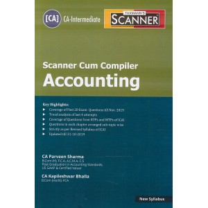 Taxmann's Cracker on Accounting for CA Inter May 2020 Exam [New Syllabus] by CA. Praveen Sharma, CA. Kapileshwar Bhalla