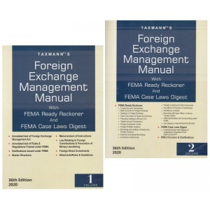 Taxmann's Foreign Exchange Management Manual with FEMA Ready Reckoner & FEMA Case Laws Digest 2020 [2 Volume]
