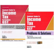 Taxmann's Student's Guide to Income Tax with Problems & Solutions (Combo) for CA/CS/ CMA Inter May/June 2020 Exam by Dr. Vinod Singhania & Dr. Monica Singhania