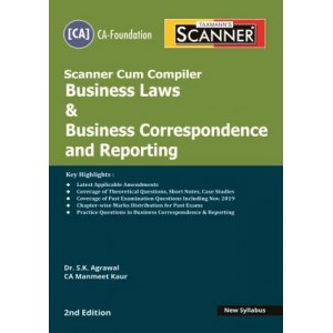 Taxmann's Cracker on Business Law & Business Correspondence and Reporting for CA Foundation May 2020 Exam [New Syllabus] by Dr. S. K. Agrawal, CA. Manmeet Kaur