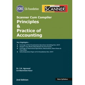 Taxmann's Cracker on Principles & Practice of Accounting for CA Foundation May 2020 Exam [New Syllabus] by Dr. S. K. Agrawal, CA. Manmeet Kaur